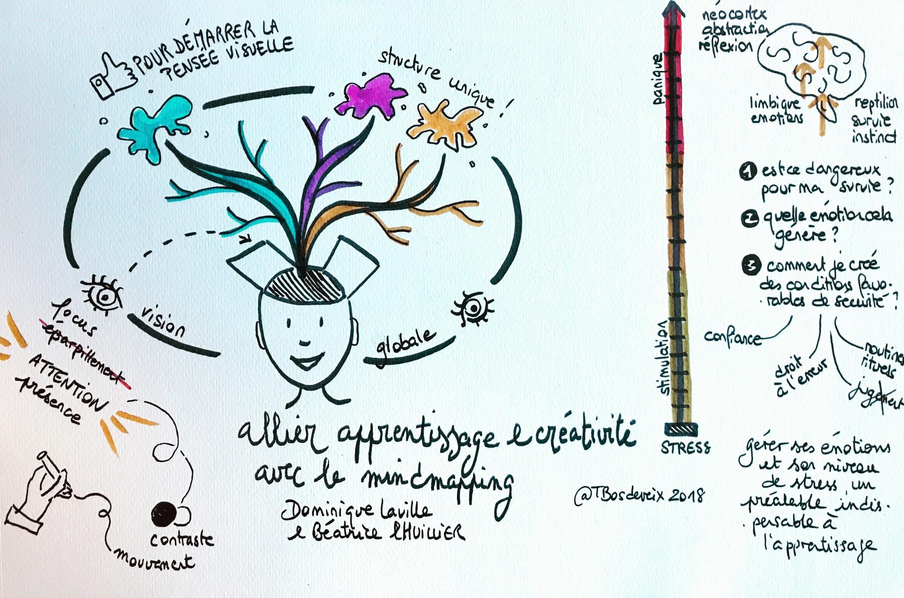 Allier Apprentissage et Créativité avec le Mindmapping (Dominique LAVILLE)